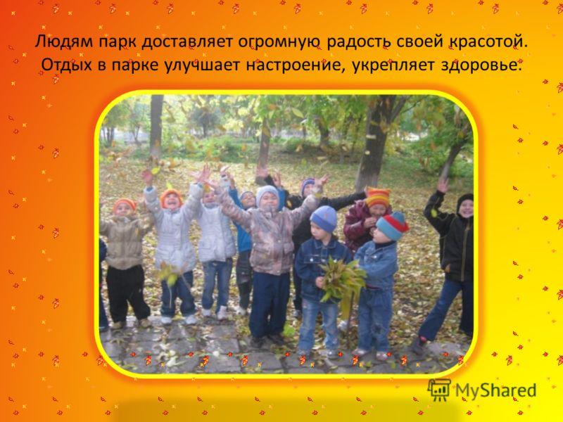Посадка новых деревьев, кустарников и цветов. Уход за новыми и уже растущими растениями. Оборудование территории парка детскими площадками и зонами отдыха.