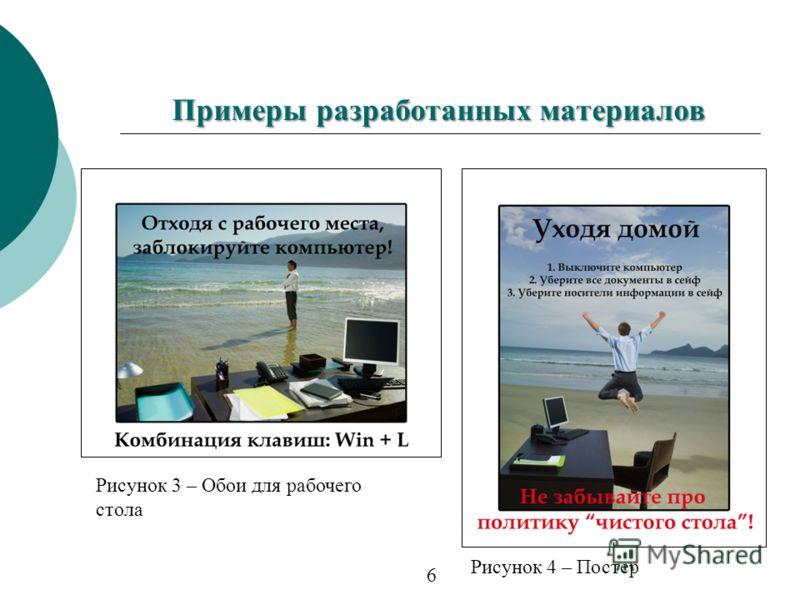 Рисунок 3 – Обои для рабочего стола Рисунок 4 – Постер Примеры разработанных материалов 6