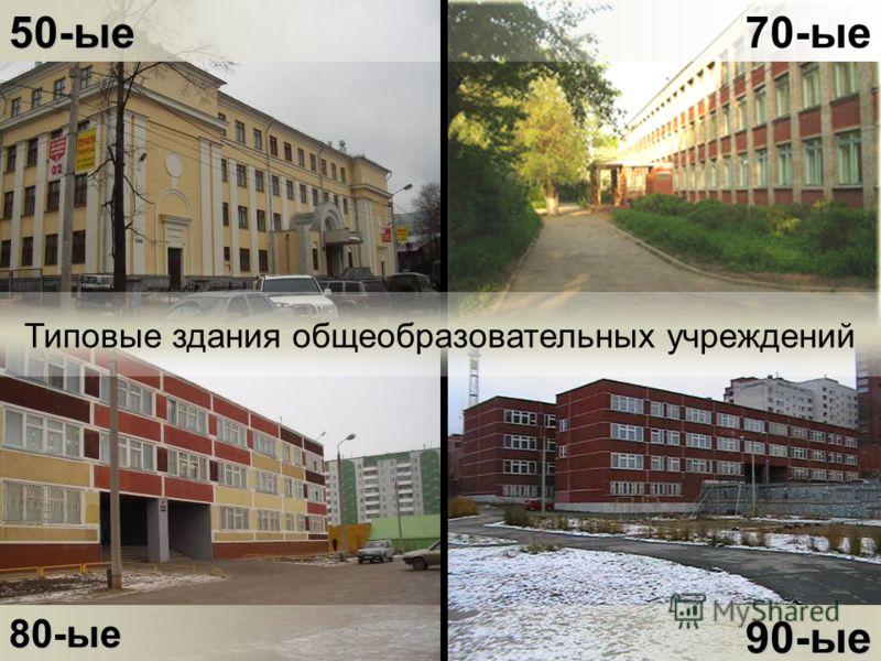 50-ые80-ые70-ые90-ые Типовые здания общеобразовательных учреждений