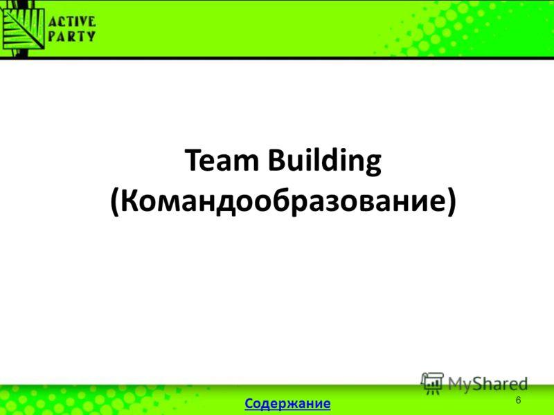 6 Team Building (Командообразование) Содержание