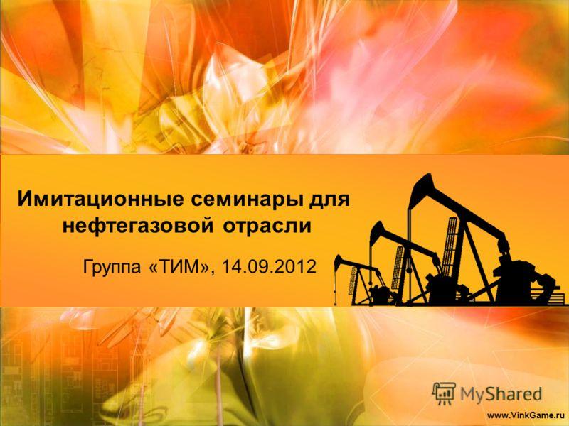 Группа «ТИМ», 14.09.2012 Имитационные семинары для нефтегазовой отрасли www.VinkGame.ru