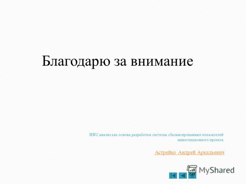 Астрейко Андрей Аркадьевич Благодарю за внимание