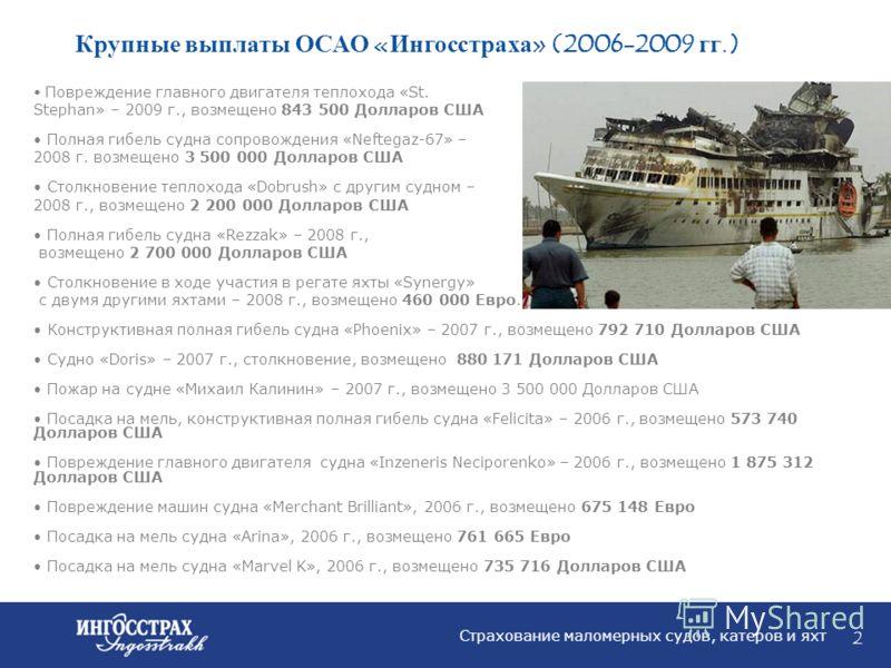 1 Открытое страховое акционерное общество (ОСАО) «Ингосстрах» работает на международном и внутреннем рынках с 1947 года. За этот период «Ингосстрах» из скромного управления, входящего в Министерство финансов СССР, превратился в крупнейшую страховую к