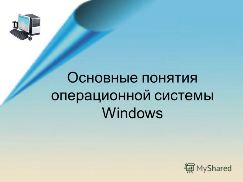 Основные понятия операционной системы Windows
