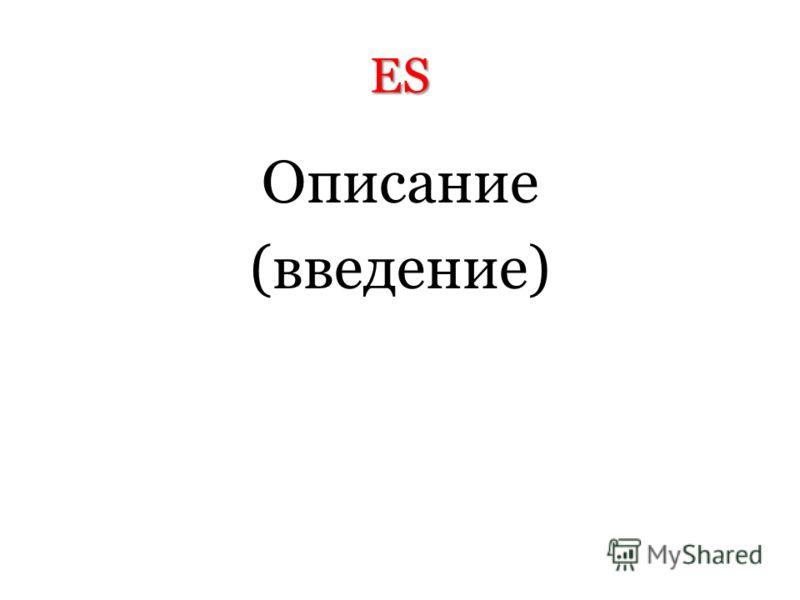 ES Описание (введение)