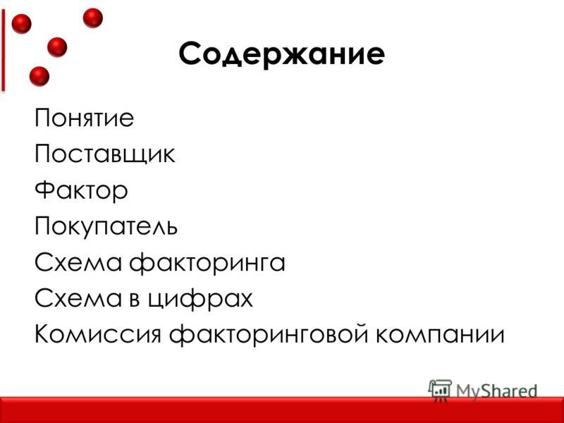 Схема факторинга Схема в