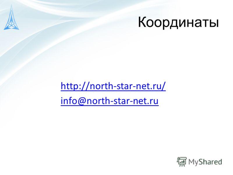 Координаты http://north-star-net.ru/ info@north-star-net.ru