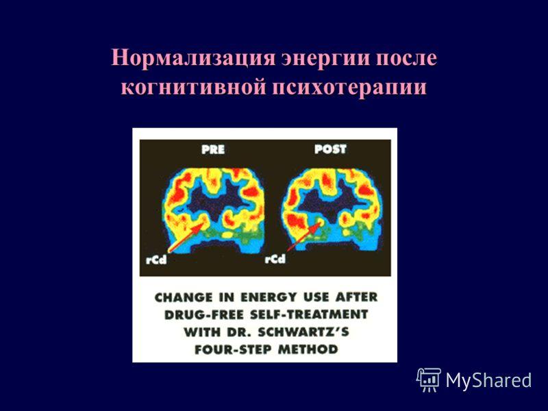 Нормализация энергии после когнитивной психотерапии