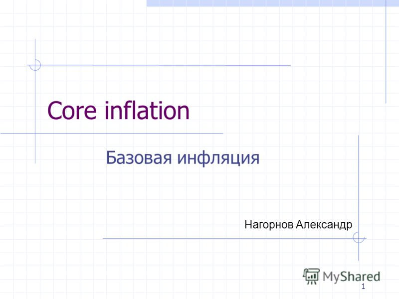 1 Базовая инфляция Core inflation Нагорнов Александр