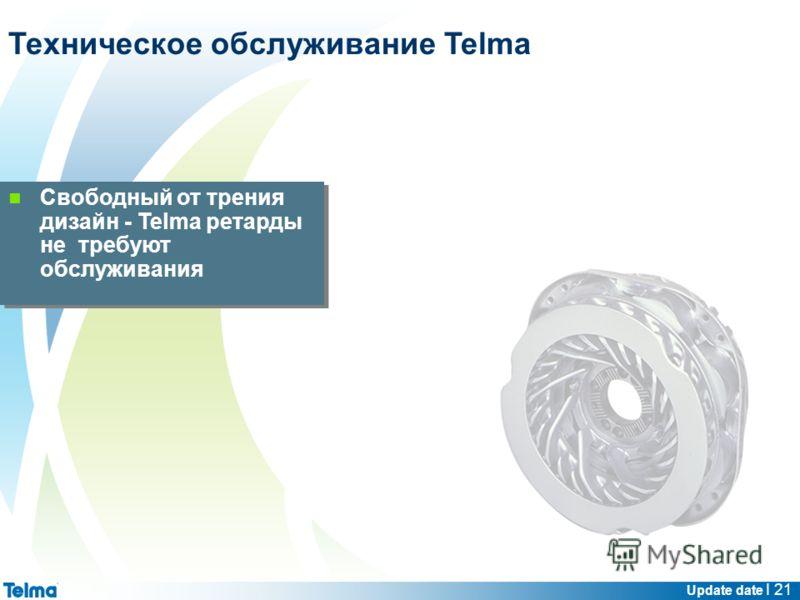 Update date I 21 Свободный от трения дизайн - Telma ретарды не требуют обслуживания Техническое обслуживание Telma
