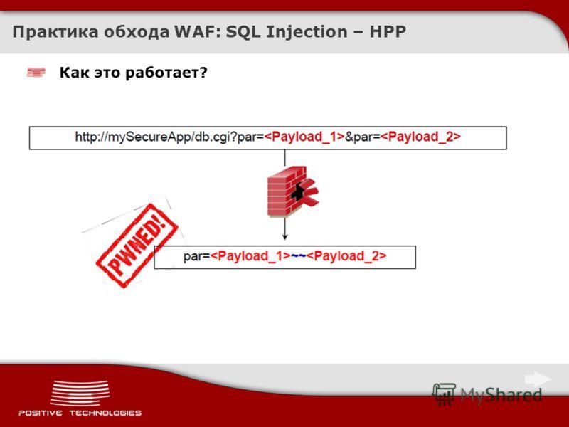 Практика обхода WAF: SQL Injection – HPP Как это работает?