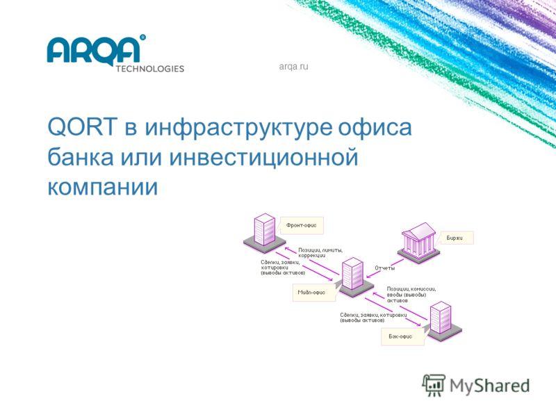 QORT в инфраструктуре офиса банка или инвестиционной компании arqa.ru