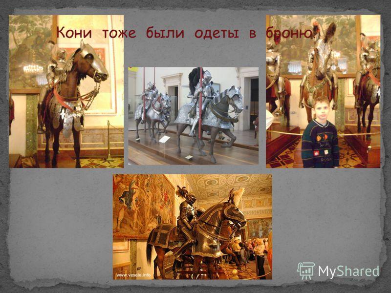Кони тоже были одеты в броню.