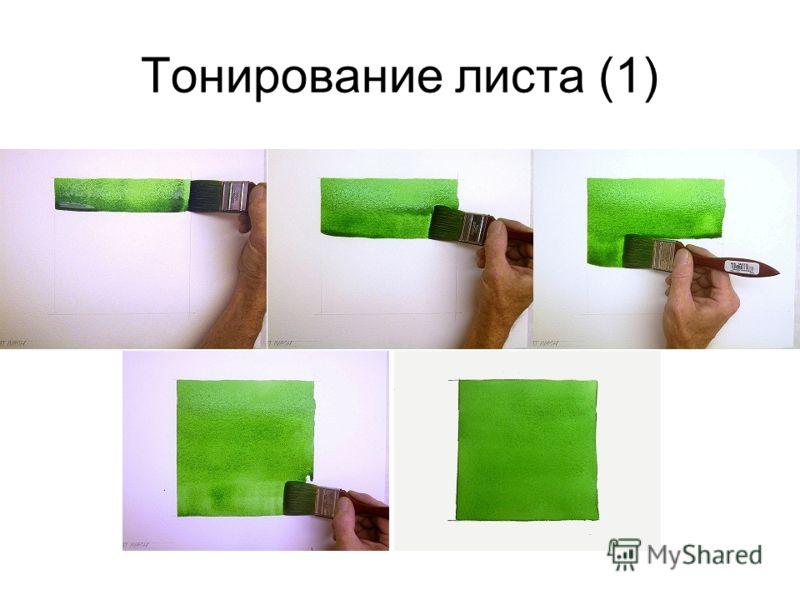 Тонирование листа (1)