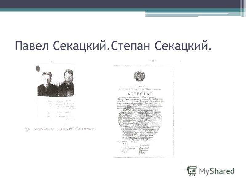 Павел Секацкий.Степан Секацкий.