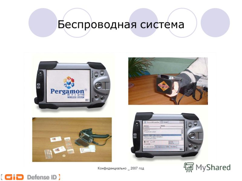 Конфиденциально _ 2007 год Беспроводная система