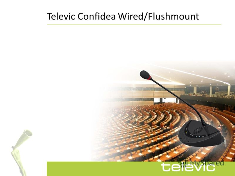 Televic Сonfidea Wired/Flushmount