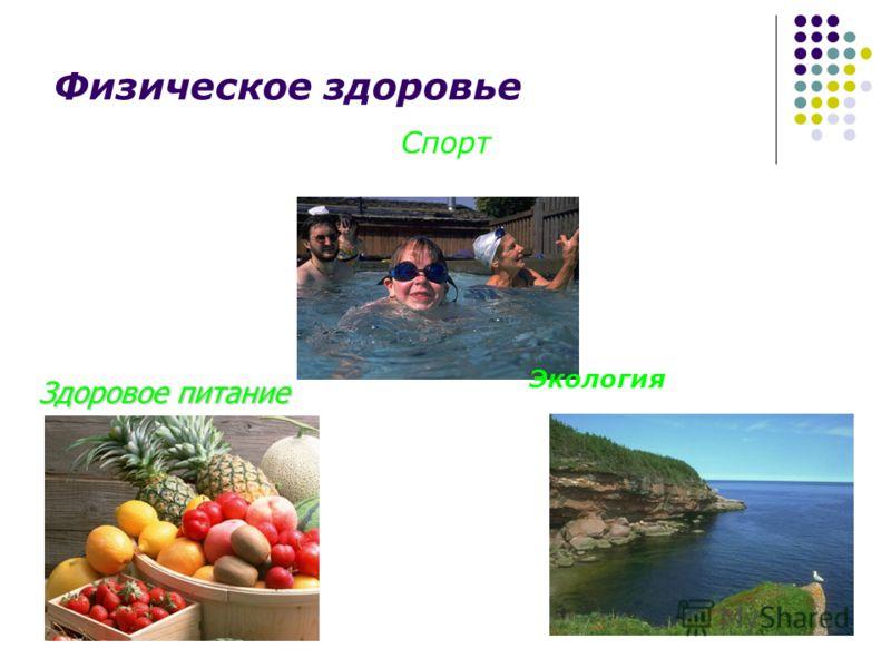 Физическое здоровье Здоровое питание Экология Спорт