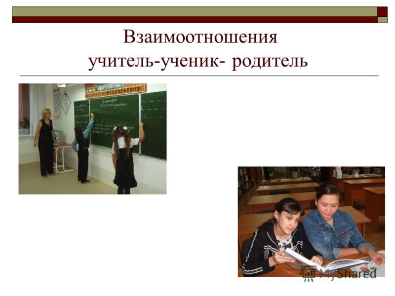 Взаимоотношения учитель-ученик- родитель