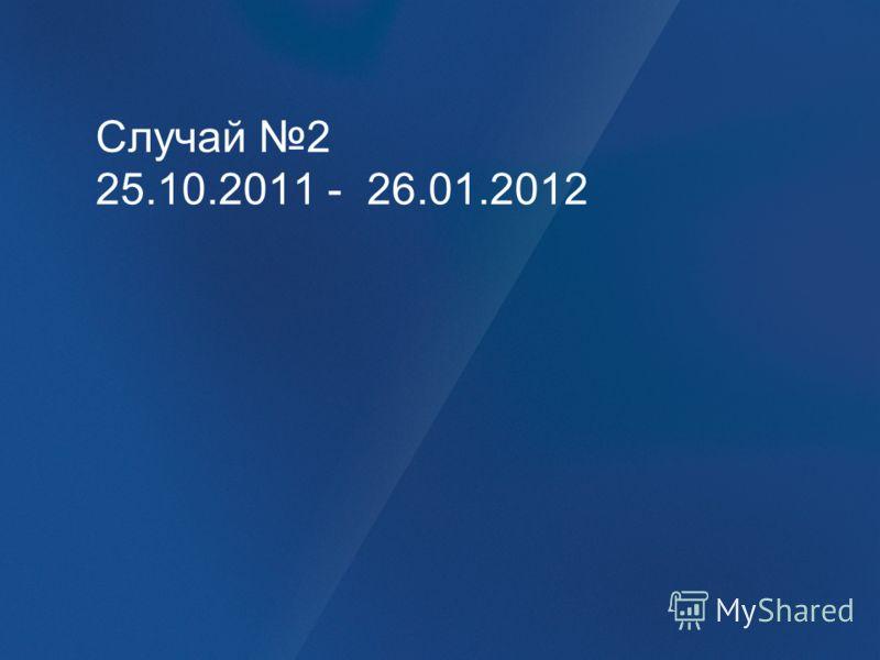 Случай 2 25.10.2011 - 26.01.2012