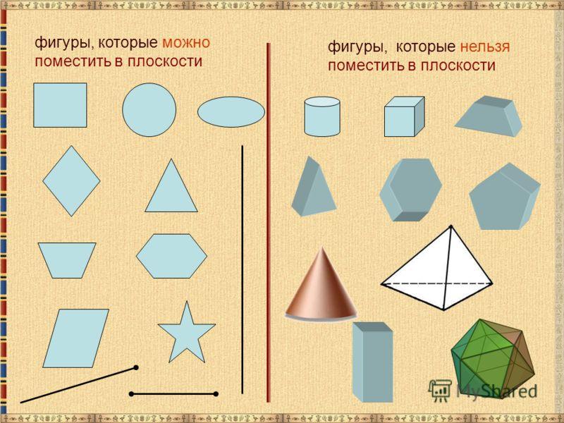 фигуры, которые можно поместить в плоскости фигуры, которые нельзя поместить в плоскости