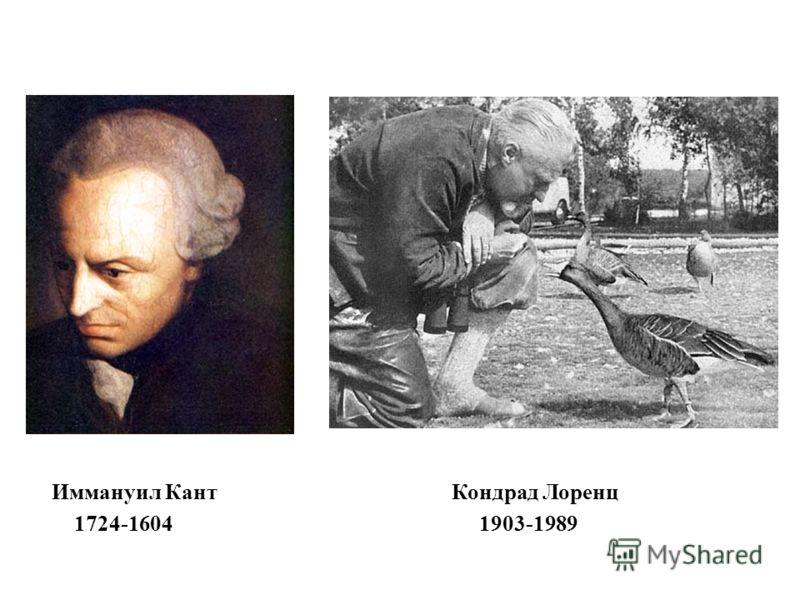 Иммануил КантКондрад Лоренц 1724-1604 1903-1989