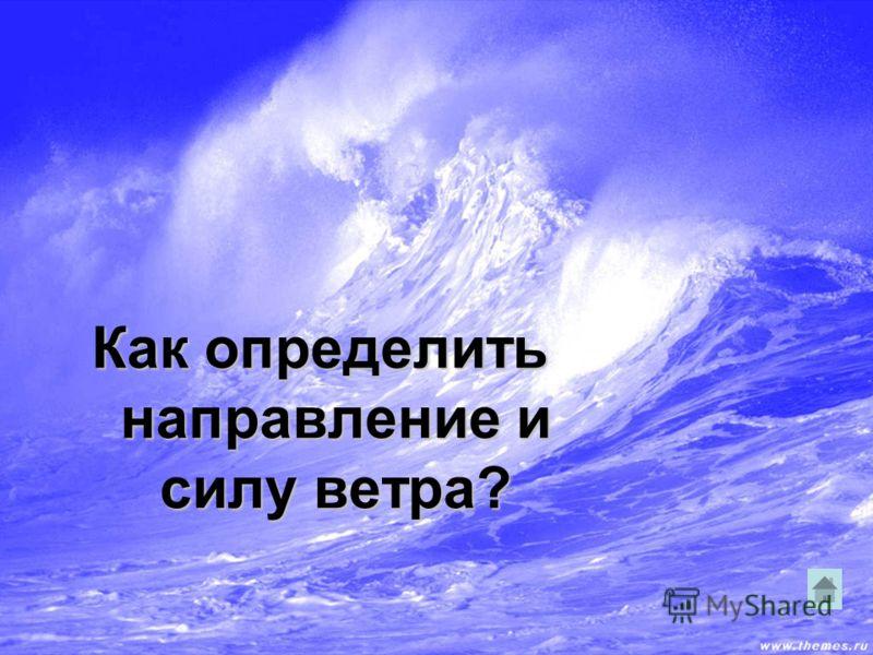 Как определить направление и силу ветра?