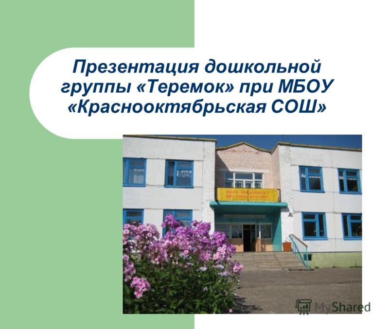 Презентация дошкольной группы «Теремок» при МБОУ «Краснооктябрьская СОШ»