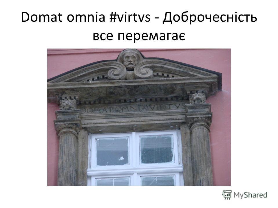 Domat omnia #virtvs - Доброчесність все перемагає