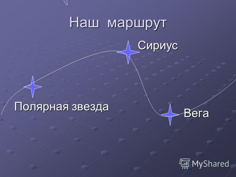 Наш маршрут Полярная звезда Сириус Сириус Вега Вега