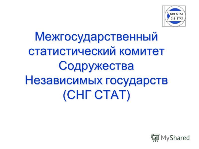 Межгосударственный статистический комитет Содружества Независимых государств (СНГ СТАТ)