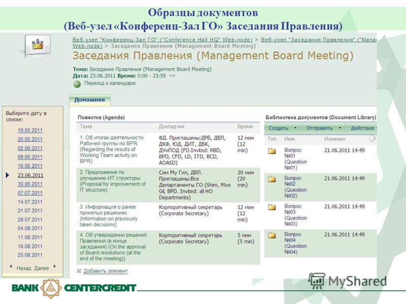 Протокол Наблюдательного Совета образец