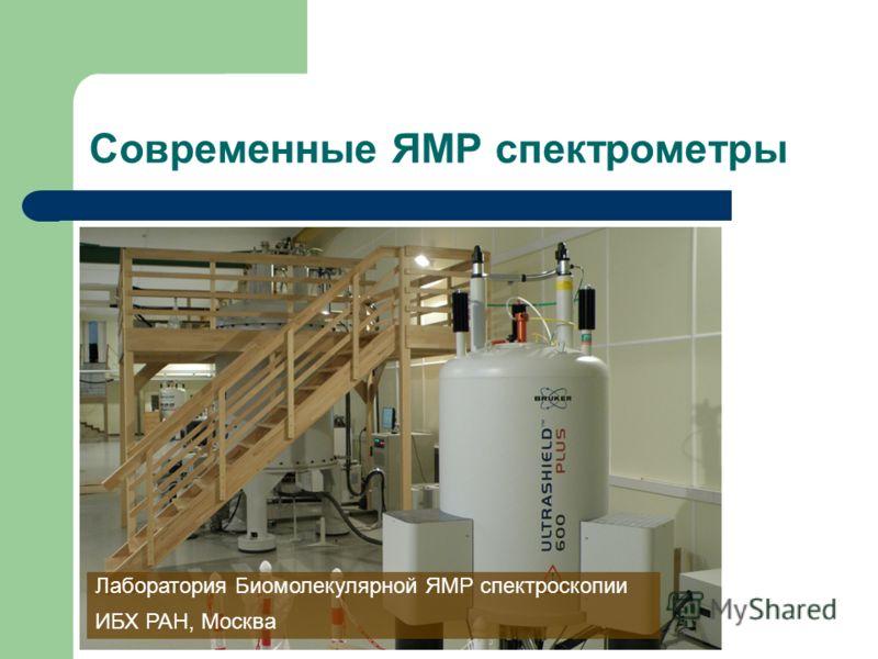 Современные ЯМР спектрометры Лаборатория Биомолекулярной ЯМР спектроскопии ИБХ РАН, Москва