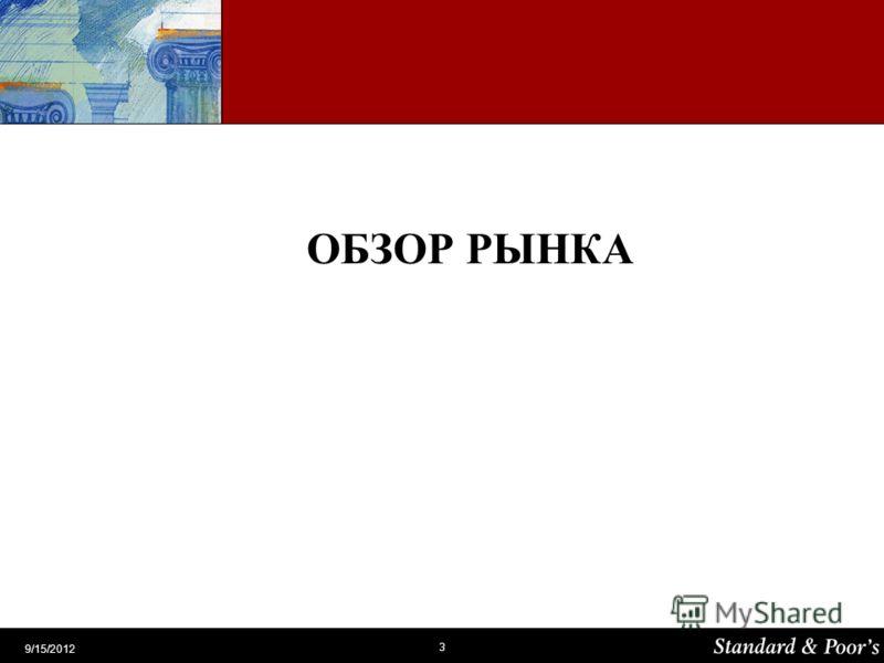 3 9/15/2012 ОБЗОР РЫНКА