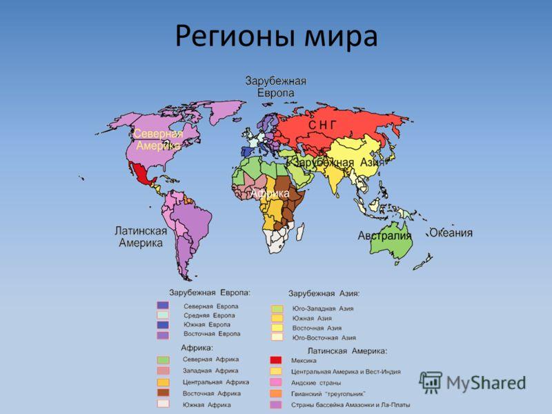 Регионы мира