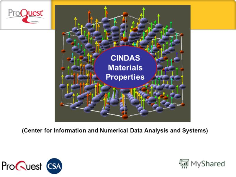 СINDAS Materials Properties (Сenter for Information and Numerical Data Analysis and Systems)