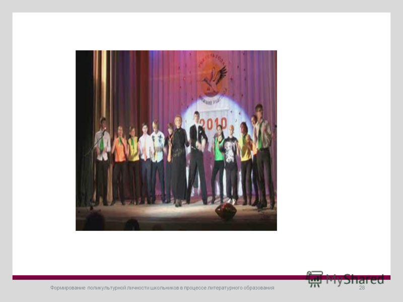 Формирование поликультурной личности школьников в процессе литературного образования28