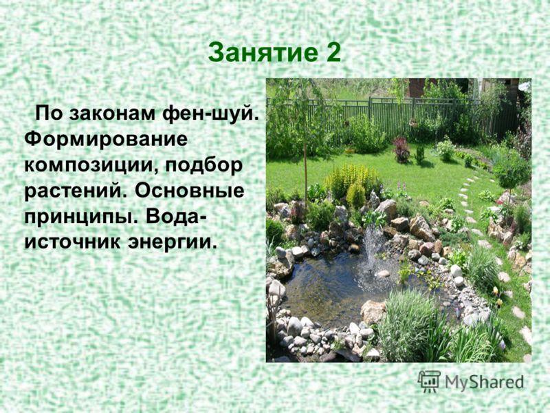Занятие 2 По законам фен-шуй. Формирование композиции, подбор растений. Основные принципы. Вода- источник энергии.