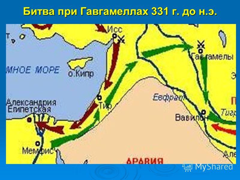 Битва при Гавгамеллах 331 г. до н.э.