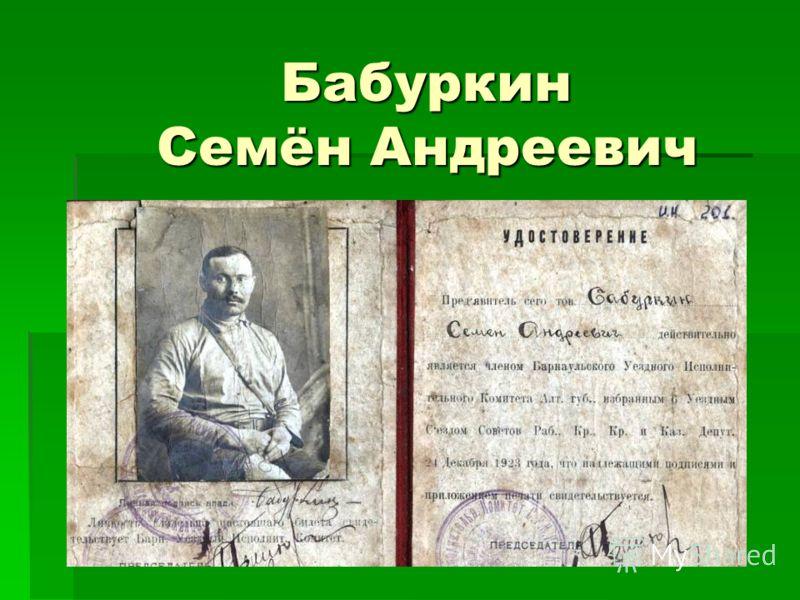 Бабуркин Семён Андреевич