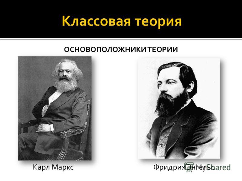 ОСНОВОПОЛОЖНИКИ ТЕОРИИ Карл Маркс Фридрих Энгельс