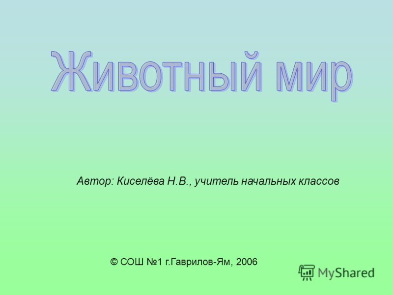 © СОШ 1 г.Гаврилов-Ям, 2006 Автор: Киселёва Н.В., учитель начальных классов