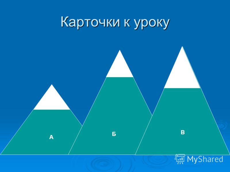 Карточки к уроку А Б В