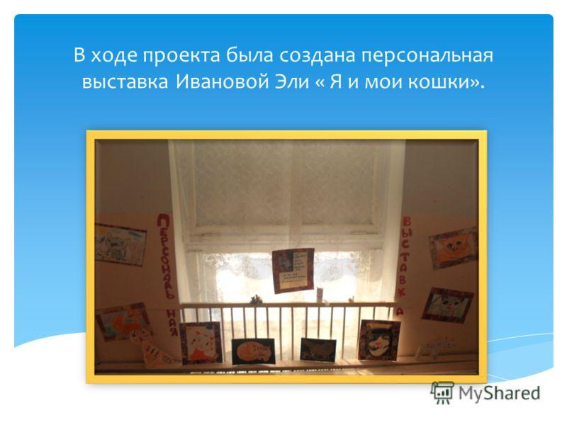 В ходе проекта была создана персональная выставка Ивановой Эли « Я и мои кошки».