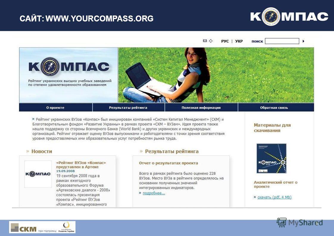 САЙТ: WWW.YOURCOMPASS.ORG 8