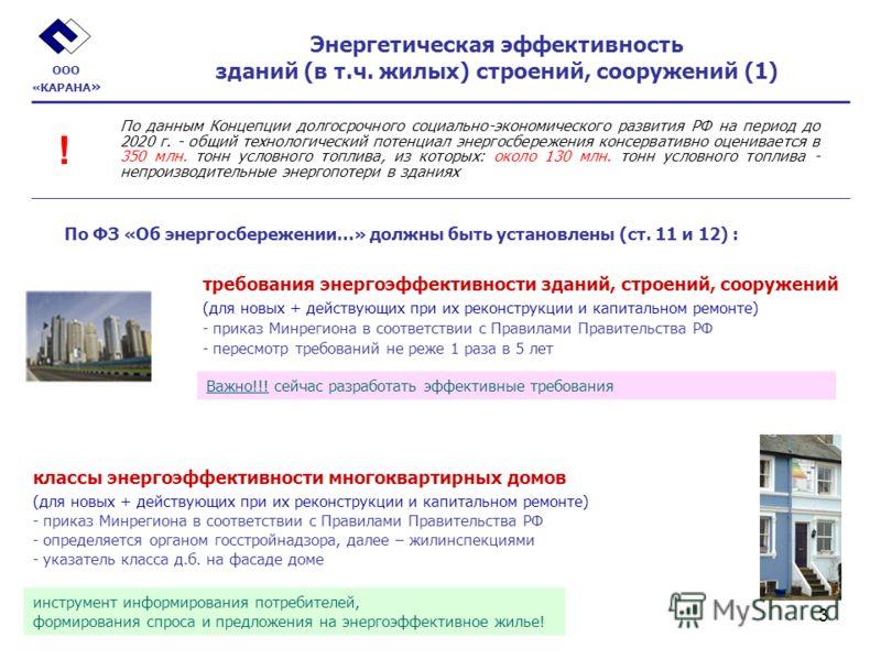 3 Энергетическая эффективность зданий (в т.ч. жилых) строений, сооружений (1) требования энергоэффективности зданий, строений, сооружений (для новых + действующих при их реконструкции и капитальном ремонте) - приказ Минрегиона в соответствии с Правил