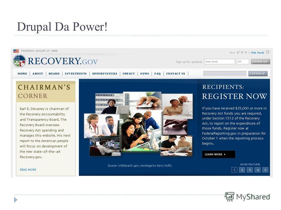 Drupal Da Power!