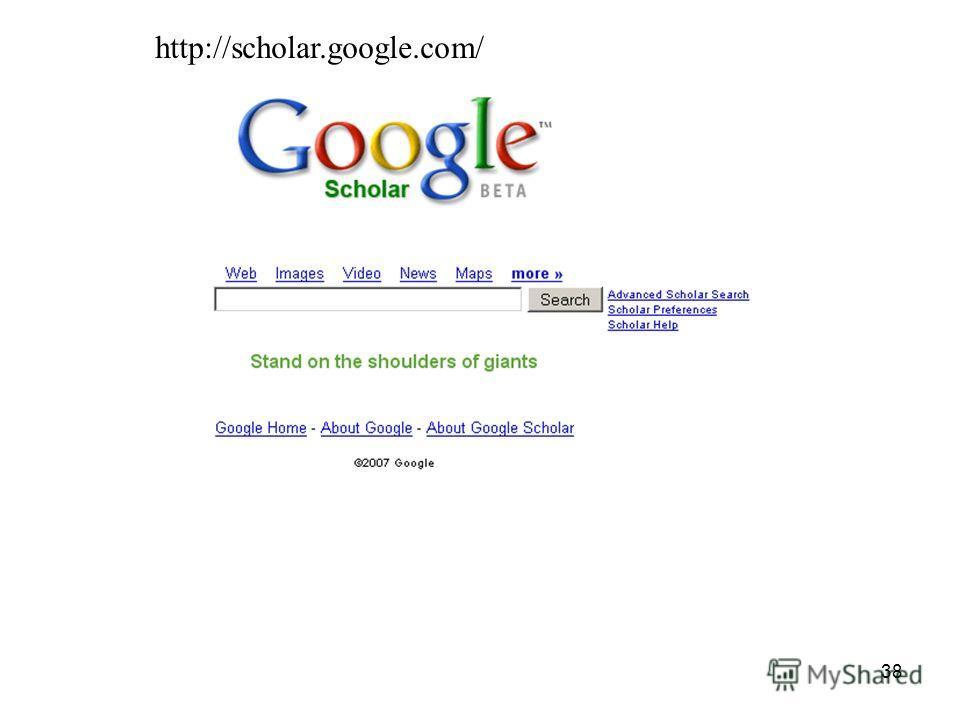 38 http://scholar.google.com/