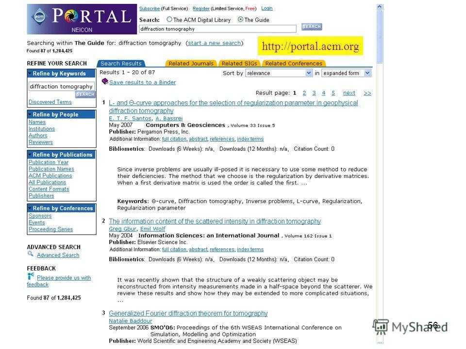 56 http://portal.acm.org