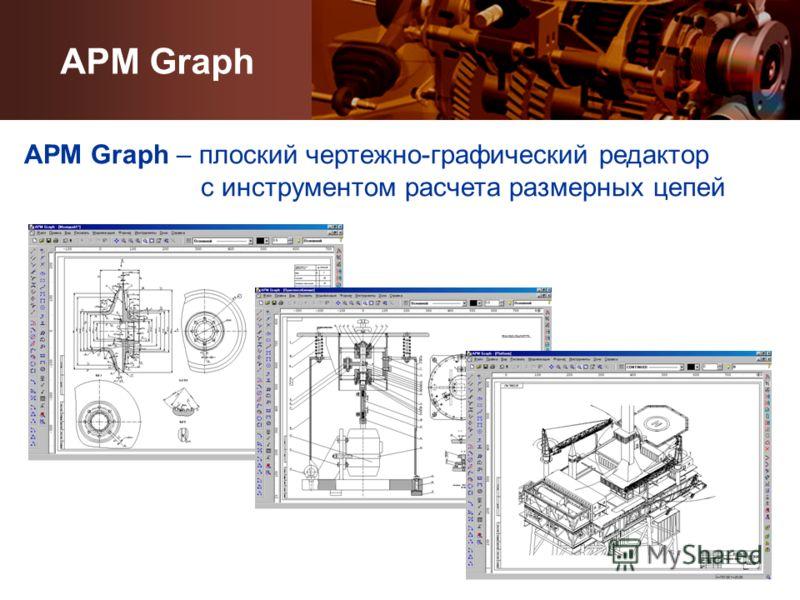 APM Graph APM Graph – плоский чертежно-графический редактор с инструментом расчета размерных цепей
